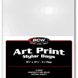 Art Print Mylar Bags- 11 1/2 X 17 1/2 (10)