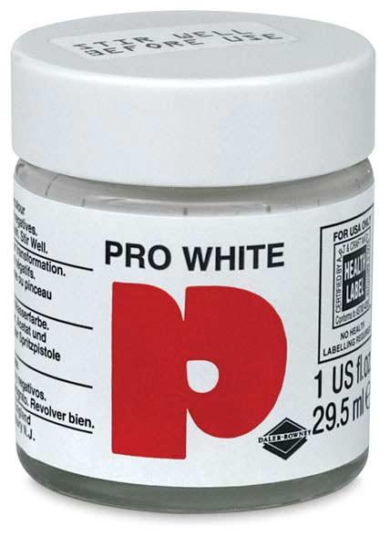 INK PRO WHITE HIGH OPACITY  1 OZ