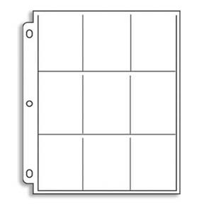 9 Pockets Cards Page - Holds 2-1/2 x 3-1/2 (10)