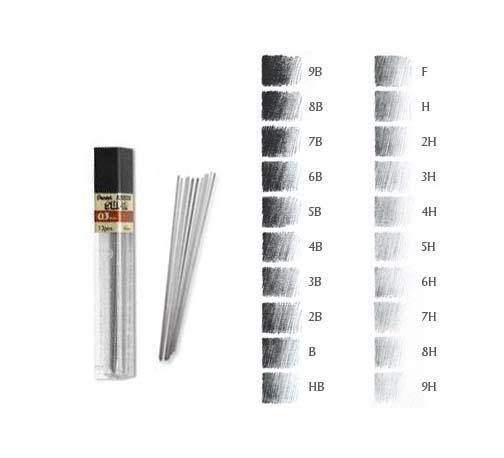 Lead 0.3mm (2H) Super Hi-Polymer (12)