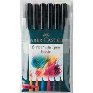 PITT Pen Brush Set of 6 Faber-Castell