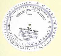 Circular Proportional Scales 6 in.