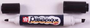 Permapaque Dual Opaque Paint Markers Black