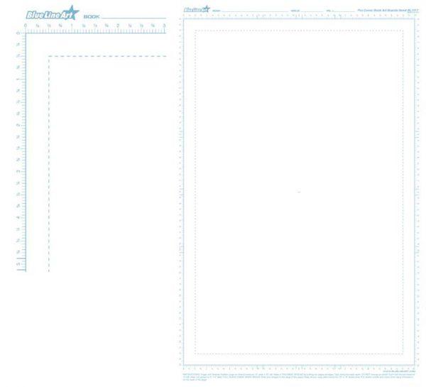 RULED PRO COMIC BOOK ART BOARDS 11X17 Bulk 100