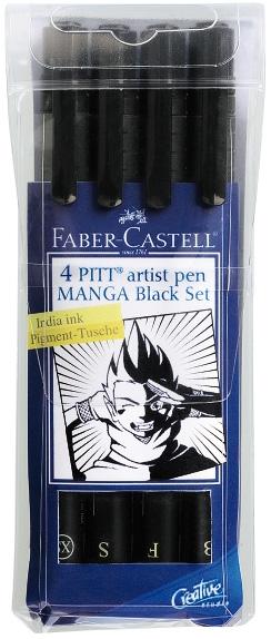 Pitt Artist Pens Manga Wallet (4) BLACK