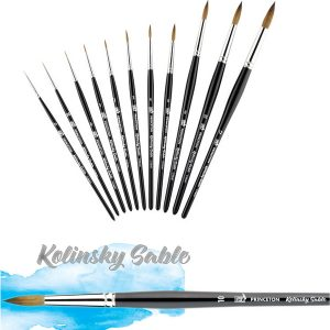 KOLINSKY SABLE W/C  ROUND BRUSH  10