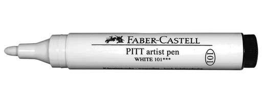 Faber Castell PITT Artist Pen Large Bullet Nib White Opaque India Ink Archival