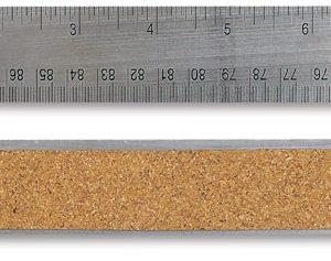 Ruler 18 inch Steel Flex Cork Back