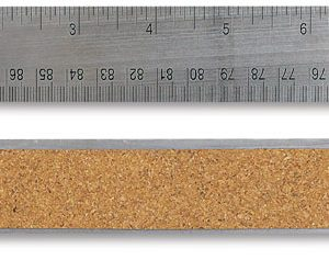 Ruler 24 inch Steel Flex Cork Back