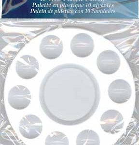 Palette Round Plastic 7in.10-well