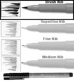 PITT Pen Brush Black Nib (B) Faber-Castell