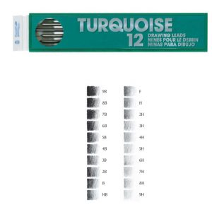 LEADS 2mm. TURQUOISE (12)