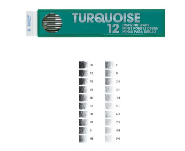 LEADS 2mm. 6B  TURQUOISE (12)