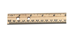 Ruler 12inch Wooden